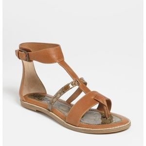 Lucky Brand Blanca leather gladiator sandal size 6